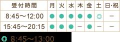 和泉市のぞみ野・トロイカ整骨院、和泉中央店の受付時間